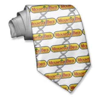 Mountain Bike ~ Bicycle Cycling Cyclist Custom Ties