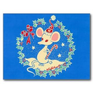 Chrissie the Christmas Mouse Post Card