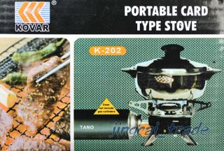 Brand New Camping Gas Powered Portable Card Type Stove Burner