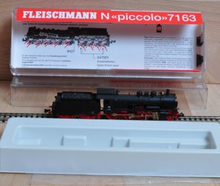 Fleischmann 7163 Dampflok mit Tender Baureihe 38 der DB / OVP / Spur N