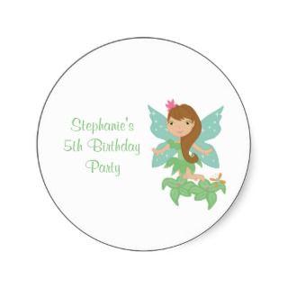 Cute girls flying fairy birthday party invitation