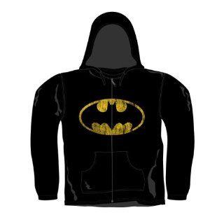 LOGOSHIRT Retro Comic Herren HOODY Kapuzen Pullover BATMAN LOGO