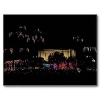 Mesa temple christmas lights post cards