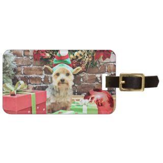 Christmas   Yorkie   Vinnie #32 Bag Tag