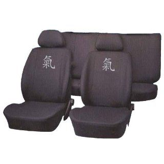 teiliges Sitzbezug Set Power, anthrazit, 2 Kopfstützenbezüge