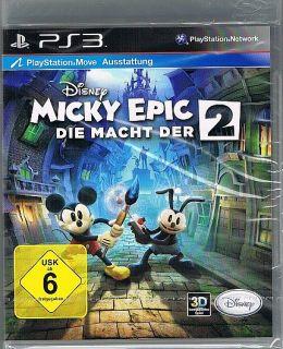 Playstation 3 PS3 Spiel Disney Micky Epic   Die Macht der 2 NEU