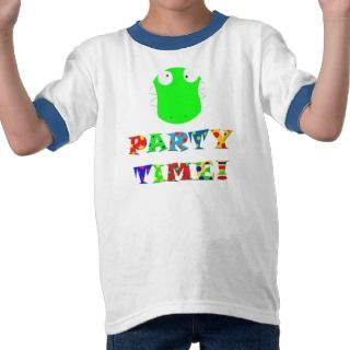 party time funny crocodile smile t shirt
