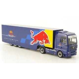 MAN TGA 18.530 XXL, Red Bull Racing, Modellauto, Fertigmodell, Herpa 1