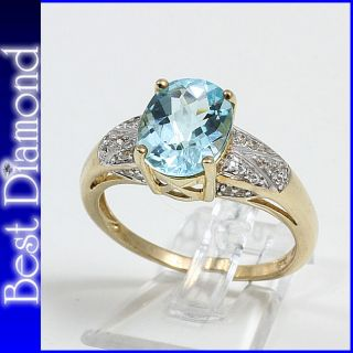 GOLDENE MOMENTE Blautopas Cocktail Ring Gold 375 P576