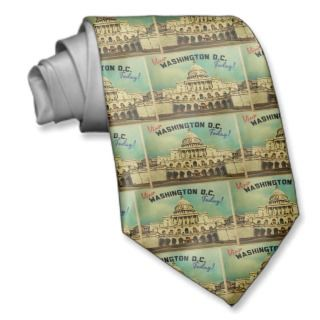 Washington DC Vintage Custom Tie