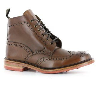 Loake Wharfdale Brown Leather Mens Boots Schuhe