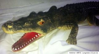 Altes großes Spielzeug Krokodil Gummi 66cm lang Toy China Rarität