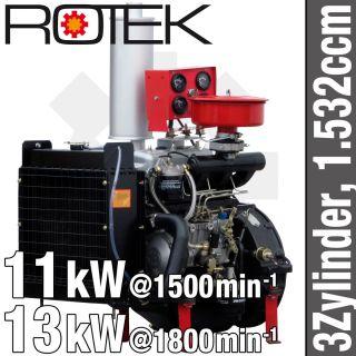 Zyl Dieselmotor 1 532ccm wassergek TD385 Diesel Motor BHKW Generator