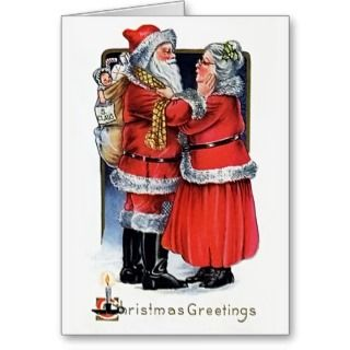 Mr & Mrs Santa Claus Christmas Card 1919
