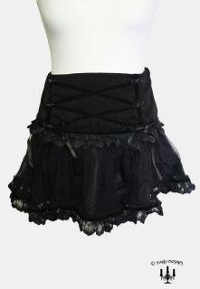Dark romantic Gothic Lolita Rock Samtrock Minirock schwarz
