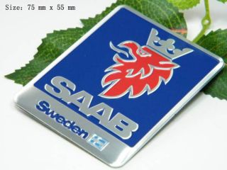 D390 SAAB Sweden Auto aufkleber 3D Emblem Sticker car Emblems