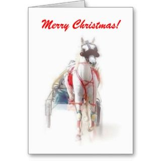 Merry Christmas Harness Racing Holiday Card