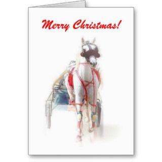 Merry Christmas Harness Racing Holiday Card