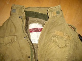 ABERCROMBIE & FITCH A&F Military Jacke in Gr. M 50