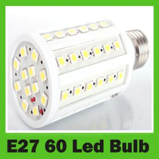 Bright 1080LM E27 60LED 5050 SMD Screw Corn Light Bulb 220V Lamp Warm