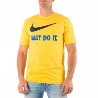 Nike Jdi Swoosh Tee [L] Gelb Kurzarm T shirts Herren Neu