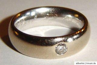Ring 585 Gold Brillantring Solitär 0,12 ct. TW Gr.53 Brillant Memory