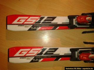 Atomic GS 12 Race Carving Ski mit Bindung 144cm rot weiss mit Bindung