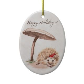Holiday Hedgehog Christmas Tree Ornament