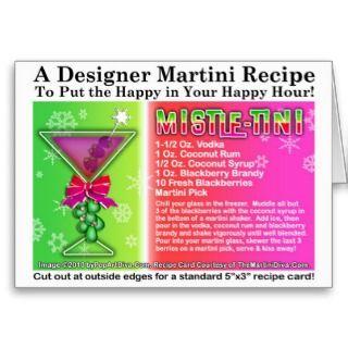 MISTLE TINI CHRISTMAS COCKTAIL RECIPE CARD