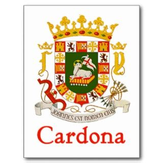 Cardona Shield of Puerto Rico Post Cards