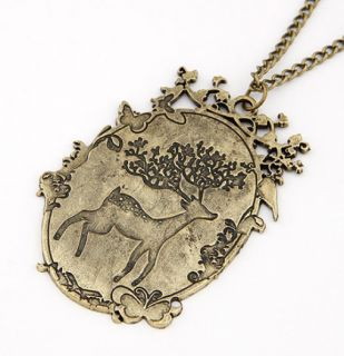 Fashion Retro bronzed imitation engraving deer Bird Butterfly Pendant