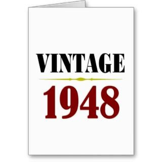Vintage 65th Birthday Gifts Greeting Card