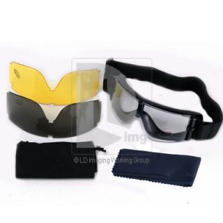 X800 Tactical Goggle UV400 Protection Transparent Black Yellow Lens