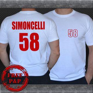 MARCO SIMONCELLI MOTO GP t shirts S XXL