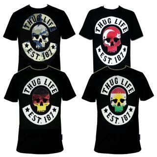 Thug Life Skull T shirt S   3XL Editions187