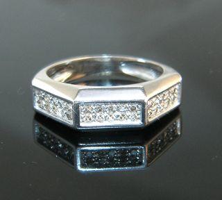 effektvoller Diamant Brillant 750 Gold Ring / Größe 55 Goldring