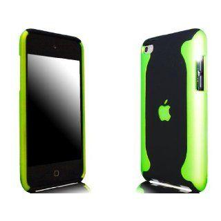 Novo iPod Touch 4, 4G Hard Case Flux Schwarz und Grün Hülle Taschen