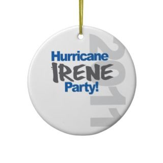 Hurricane Irene Party 2011 Christmas Tree Ornaments