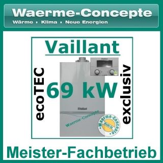 Vaillant ecoTEC exclusiv VC 656/4 7 69 Gas Brennwert Therme Heizung