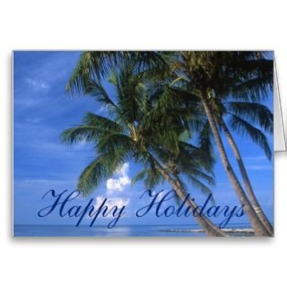 Key West Merry Christmas Happy New Year Greeting Cards