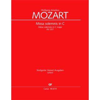 Mozart Missa solemnis in C (KV 337). Partitur Wolfgang