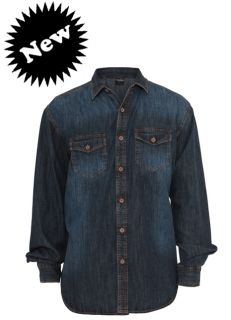 URBAN CLASSICS DENIM SHIRT BLUE STONE JEANSHEMD