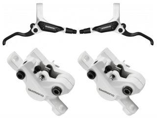 Shimano BR M 395 Scheibenbremse weiß Set   Deore 445 white disc brake