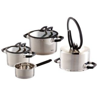 ELO 30005 Topfset, 4 teilig, schwarz matt Küche
