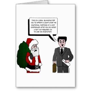 Funny Santa Cartoon Christmas Card cards by yourmamagreetings