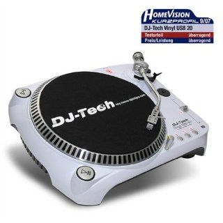 DJ Tech USB DJ Plattenspieler Turntable weiss/white: