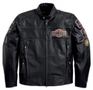 Harley Davidson Black Ridge Leather Jacket 97115 12VM Herren Outerwear