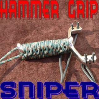 Dankung Hammer Grip Sniper Stainless Steel Hunting Catapult Slingshot