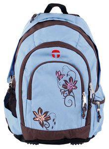 Take it easy Schulrucksack Berlin Beauty Flower hellblau