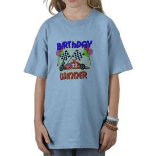 12th Birthday Race Car Birthday Tshirt